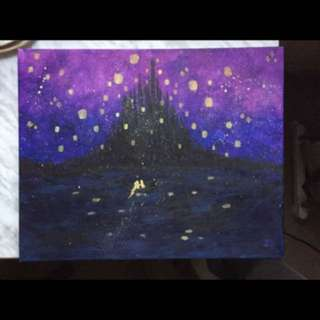 Tangled painting made by yours truly