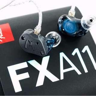全新 Fender FXA11 送 $1,680 啦叭 CM 2-Pin 插頭 混合 4動鐵+1動圈 單元 IEM Headphone
