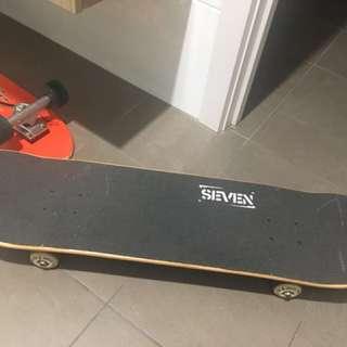 Steven skates skateboard