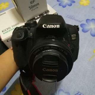 Canon 700D+Lensa 50 Mm f/1,8 Stm