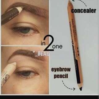 Menow eyebrow + concealer 2 in 1