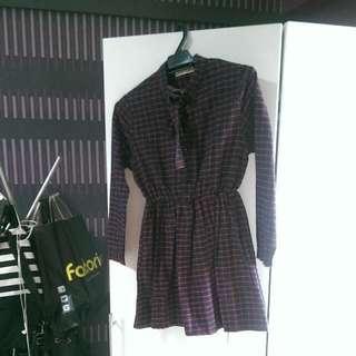 Korean Babydoll Checkered Dress