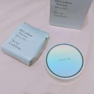 🚚 日本專櫃購回❤️送化妝包 蘭芝LANEGE水聚光淨白氣墊粉霜2入
