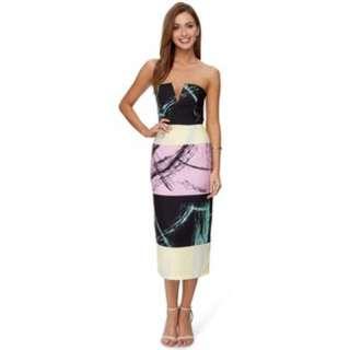 Shona  Joy brush  bustier midi dress 8