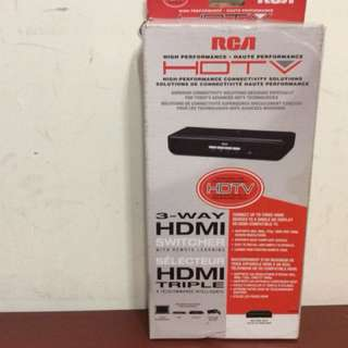 Rca 3-way hdmi switcher with remote learning capability
