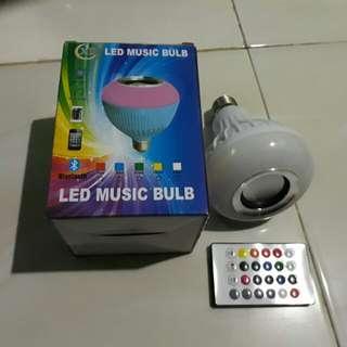 Lampu tidur LED speaker bluetooth