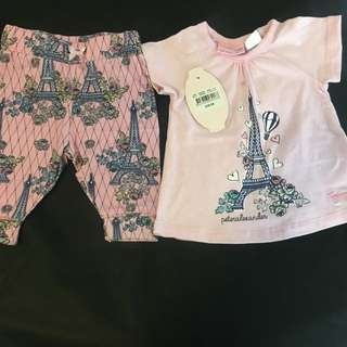 Peter Alexander Paris Baby set 0-3 months