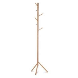 Wooden Coat Rack Clothes Stand Hanger Beige