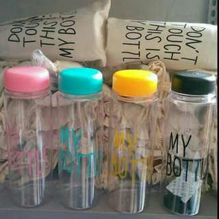 My Bottle ,,,tinggal Wrna Hitam 500ml, No Pouch
