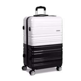 Hard Shell Travel Luggage with TSA Lock Black and White