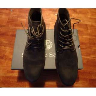 Shaw & Smith Lace Up Ankle Boots | Brand New