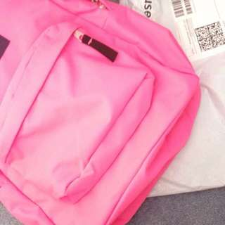 Fluorescent Pink Jansport