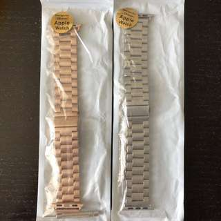 Rose Gold & Silver Apple Watch Band