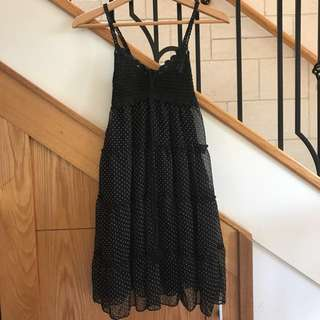 Black baby doll mini dress sz8