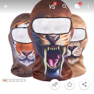 Full Face Animal Printed Balaclava