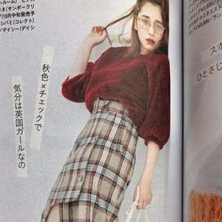 現貨特價(🇯🇵日本代購)日系日牌Lily Brown超級舒服軟軟萌萌毛毛絨絨酒紅仿皮草上衣 全新 三件免運