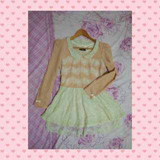 Peachy long sleeves dress Tags: Lolita Liz lisa Japanese Dress