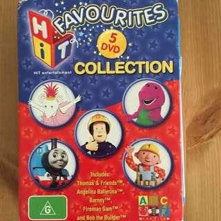 Kids Hit Favourites DVD Set