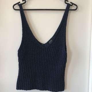 Bardot knitted crop size 10