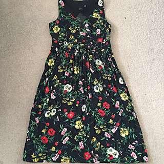 ASOS Curve Floral Tea Dress Size 18