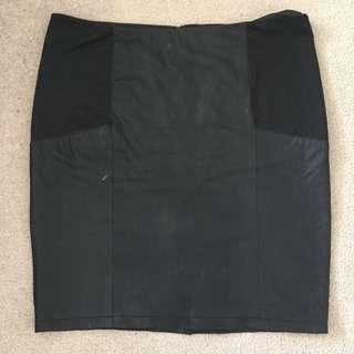 ASOS Curve Leather Skirt Size UK 20