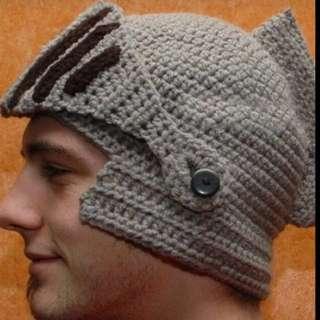 Knight's Helmet Knitted Wool Beanie
