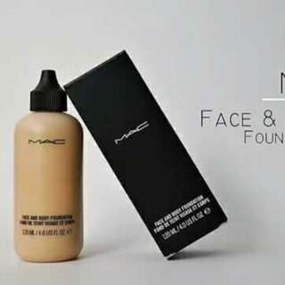 Mac liquid face and body foundation