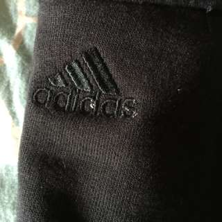 Black and red adidas jumper