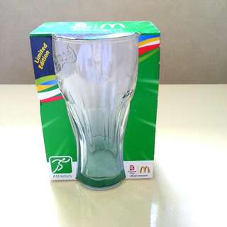 McDonald's Beijing Olympic 2008 Commemorative Coca-Cola Contour Glass (Athletics)(Limited Edition)