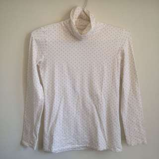 UNIQLO WHITE LONGSLEEVE TURTLENECK