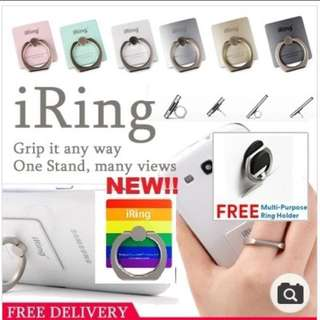 ☆[SG Seller]☆ #FlashSale11 CLEARANCE iRing WITH FREE HOOK! Bunker ring /Phone stand /Ring Holder(iPhone/Android/iPad/Tablet/Xiaomi/Oppo)