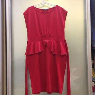 Dorothy Perkins Peplum Dress (UK16)