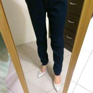[上班族二手拍賣]MANGO西裝褲深藍紗36