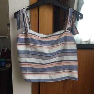 Forever New Strip Off-shoulder Crop Top