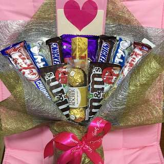 Free delivery ! For him & her 💑 Chocolate bouquets