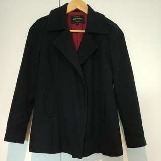 River Island Navy Pea Coat UK6