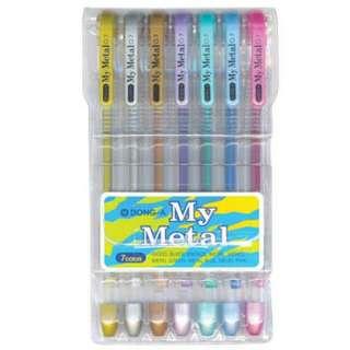 My Metal Dong A gel pens 7pcs