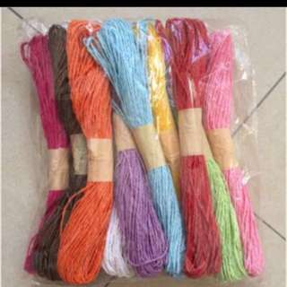 Paper twine assorted colors