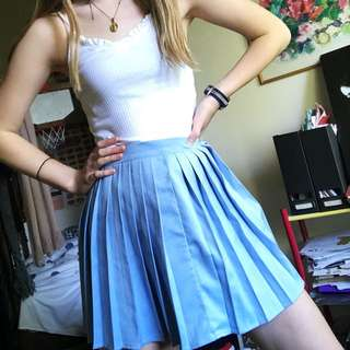 Cute pleated blue skirt size XS