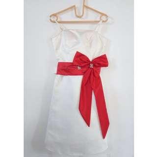 White Red Dress