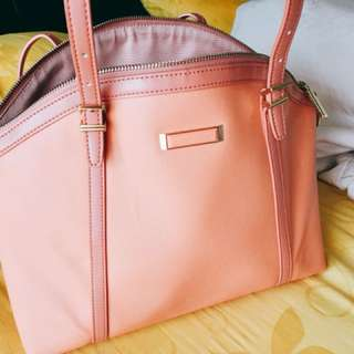 Charles & Keith pink tote bag