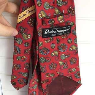 Salvatore Ferragamo tie authentic 呔 領帶  postage included 包郵