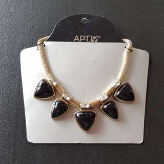 APT. 9 Black and Gold Necklace