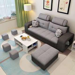 布藝沙發小戶型可拆洗三人組合(儲物沙發)