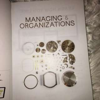 MANAGING PEOPLE & ORGANISATIONS NEWEST EDITION