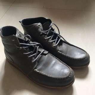 Boots leather grey ( kulit)
