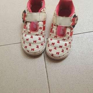 preloved sepatu adidas minnie mouse size us 7 1/2  outsole kurleb 17cm no box ya...