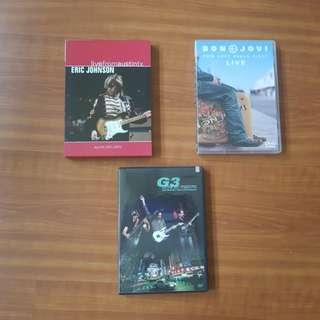 Music DVD's - $10 each