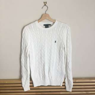 RALPH LAUREN white knit – medium