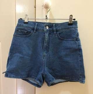 Lee blue denim shorts